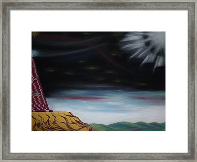 Moon Tower Framed Print by Robert Nickologianis