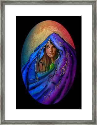 Moon Veil Framed Print