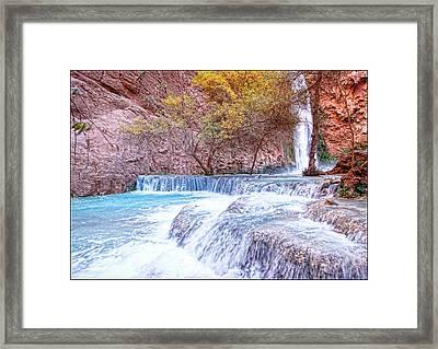 Mooney Falls Framed Print by Stellina Giannitsi