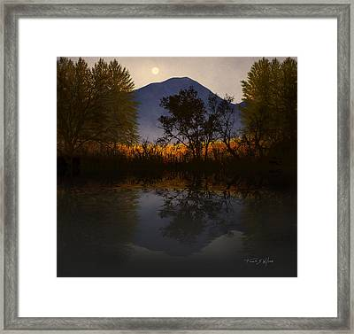 Moonlit Mountain Meadow Framed Print by Frank Wilson