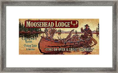 Moosehead Lodge Framed Print by Tim Tanner
