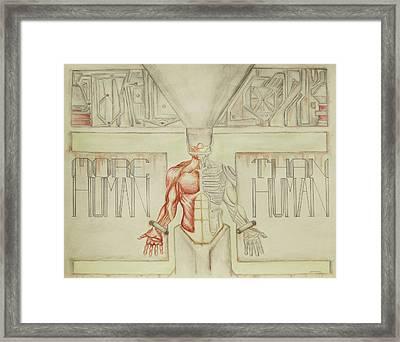 More Human Than Human Framed Print by Jeffrey Oleniacz