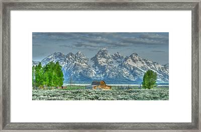 Mormon Row Barn Framed Print