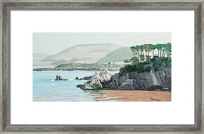 Morning At Point Lobos Framed Print