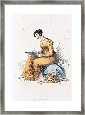 Morning Dress, Fashion Plate Framed Print by English School