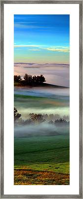 Morning Fog Over Two Rock Valley Diptych Framed Print by Wernher Krutein