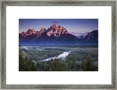 Morning Glow Framed Print by Andrew Soundarajan