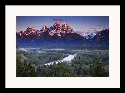 Mountain Overlook Framed Prints