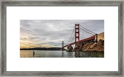 Morning Gold On The Golden Gate Framed Print