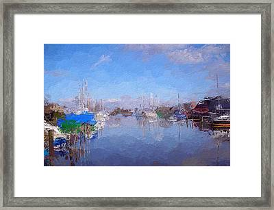 Morning In The Harbor Framed Print by Steve K
