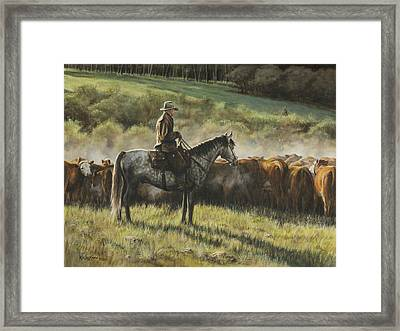 Morning In The Highwoods Framed Print by Kim Lockman