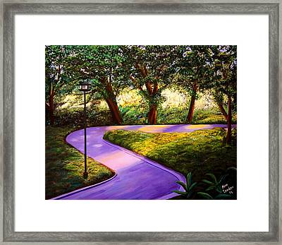 Morning In The Park Framed Print