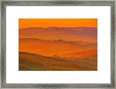 Morning Lights Framed Print