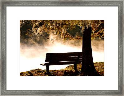 Morning Mist At The Spring Framed Print