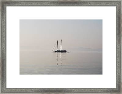 Framed Print featuring the photograph Morning Mist by George Katechis