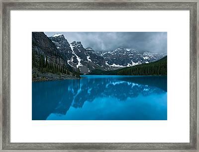 Morning Moraine Framed Print