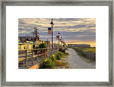 Morning On The Boardwalk Framed Print