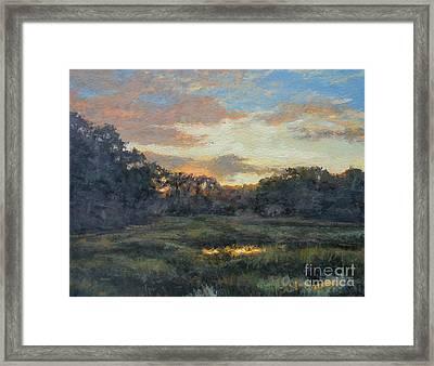 Morning On The Marsh - Wellfleet Framed Print by Gregory Arnett