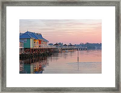 Morning Peace Framed Print by HH Photography of Florida