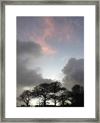 Morning Sky Framed Print by Les Cunliffe