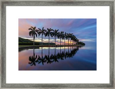 Mornings Reflections II Framed Print by Claudia Domenig