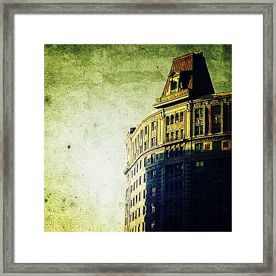 Morningside Heights Green Framed Print by Natasha Marco