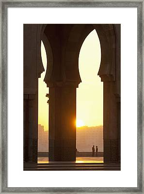 Morocco, Looking Through Arches Framed Print by Ian Cumming
