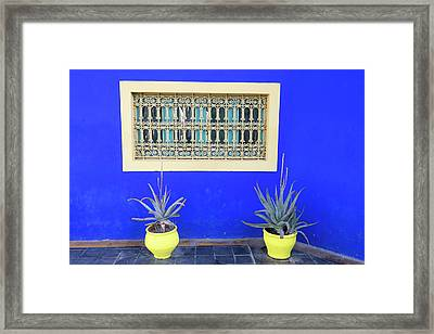 Morocco, Marrakech, Jacques Majorelle Framed Print by Emily Wilson