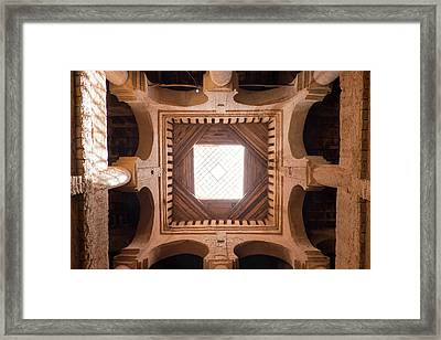 Morocco, Tamnougalt Kasbah In The Draa Framed Print by Emily Wilson