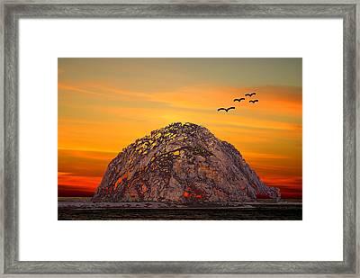 Morro Rock 3007 Framed Print by Barbara Snyder