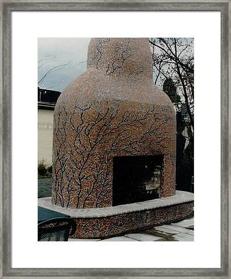 Mosaic Fireplace Framed Print by Charles Lucas