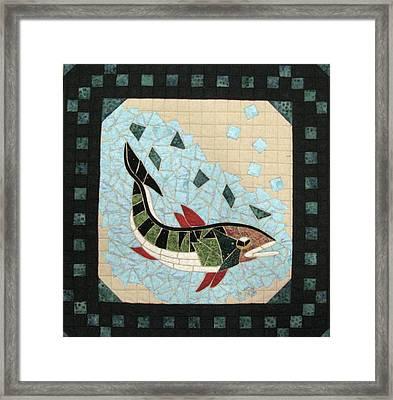 Mosaic Fish Framed Print