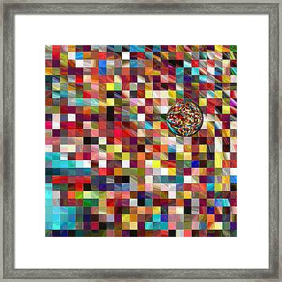 #1 Mosaic Series Framed Print by George Curington