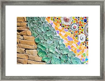 Mosaic Texture  Framed Print by Niphon Chanthana