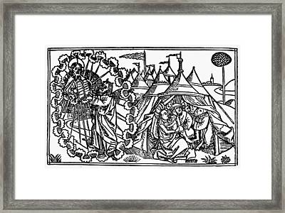 Moses Receiving The Law Framed Print by Granger