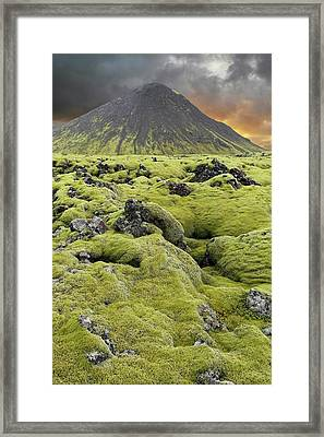 Moss-covered Lava Field Framed Print by Tony Craddock