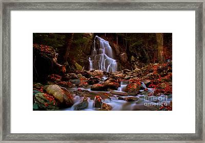 Moss Glen Falls. Framed Print