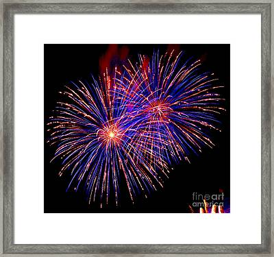 Most Spectacular Fireworks Selection - Worldwide Championship - Montreal Framed Print by Emma Lambert