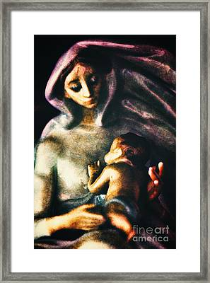 Mother And Child Framed Print by Davy Cheng