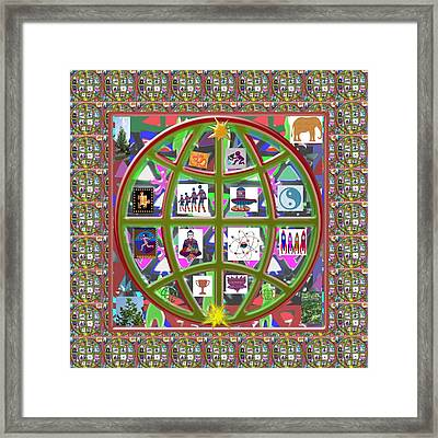 Globe Mother Earth Circle Artistic Navin Joshi Rights Managed Images Graphic Design Is A Str Framed Print by Navin Joshi
