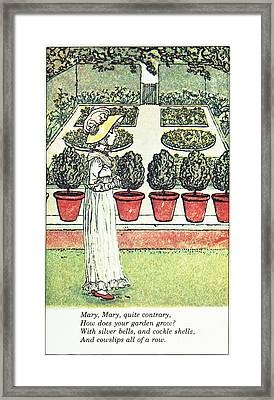 Mother Goose, 1881 Framed Print