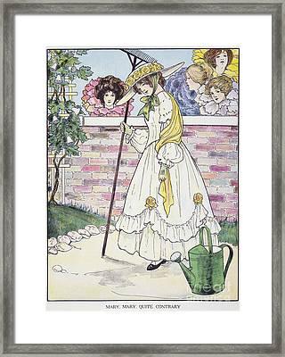 Mother Goose, 1916 Framed Print