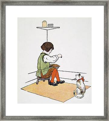 Mother Goose: Jack Horner Framed Print