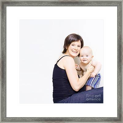Mother Holding Baby Framed Print