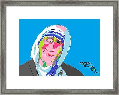 Mother Teresa Framed Print by Anita Dale Livaditis