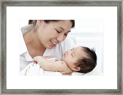 Mother With Baby Daughter Framed Print by Ruth Jenkinson