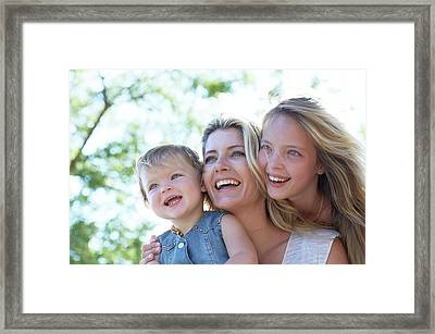 Mother With Her Two Daughters Framed Print by Ruth Jenkinson