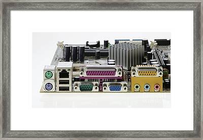 Motherboard Connectors Framed Print