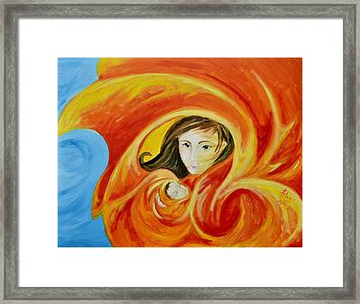 Mother's Warmth Framed Print