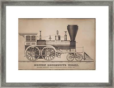 Boston Locomotive Works Framed Print by MotionAge Designs